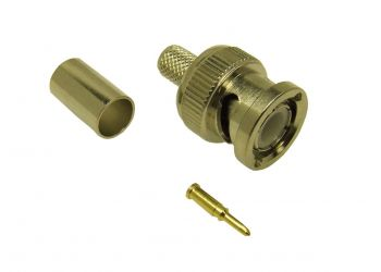 BNC Crimp plug RG58 (Turned)